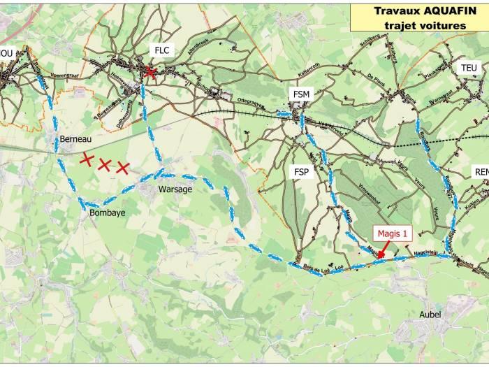 Omleiding autoverkeer kaart A3 FR